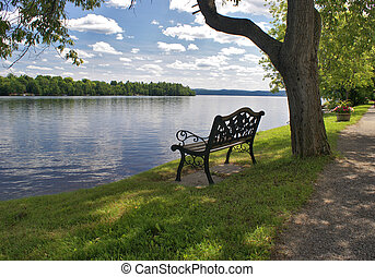 Lakeview Bench Seat - Have a seat on the bench to take a...