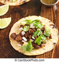 mexican food - soft tortilla corn taco