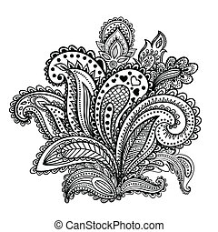 Beautiful Indian paisley ornament for your business