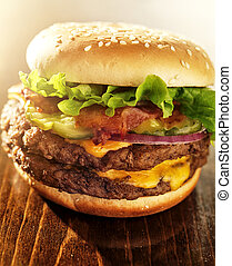dobro, hambúrguer, Toucinho, trabalhos