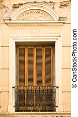 Old window in Buenos Aires. - Old window in San Telmo...