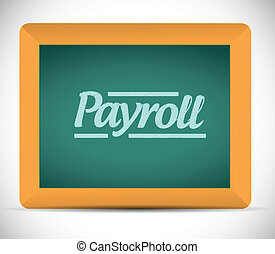 payroll message illustration design