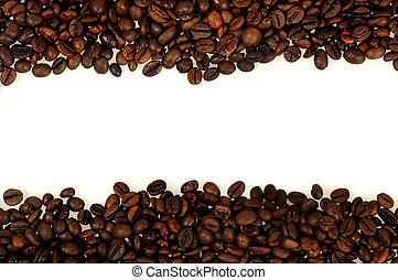 Isolated coffee frame
