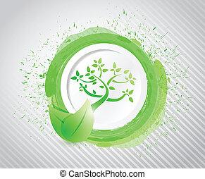 eco ink illustration design