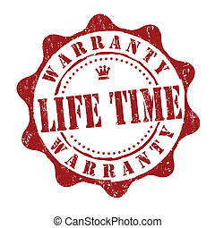 Lifetime warranty stamp - Lifetime warranty grunge rubber...