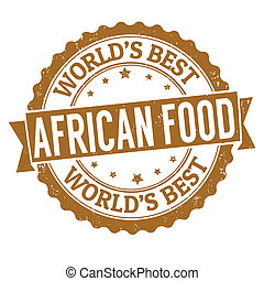African food stamp - African food grunge rubber stamp on...