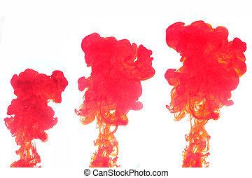Red Smoke Water - The Red smoke caused by water spread