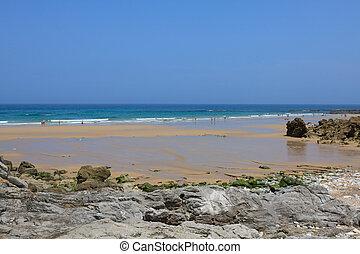 Beach of Pechon, Cantabria, Spain