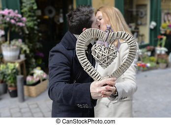 Romantic couple in love celebrating anniversary - Romantic...