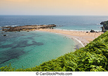 Beach of Pechon, Cantabria, Spain