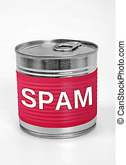 Spam food - Spam word on food can