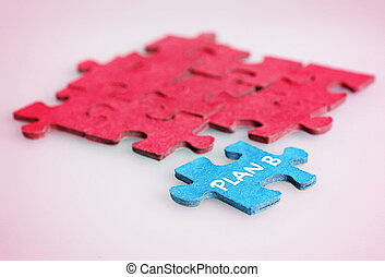 Plan B word - Puzzle with Plan B word piece
