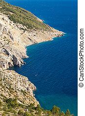 Beautiful Croatian coast landscape.