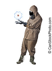Nuclear energy - A man wearing an NBC Suite (Nuclear -...