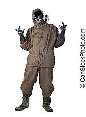 Nuclear Power Rocks! - A man wearing an NBC Suite (Nuclear -...