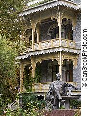 monumento, Lenin, Sanatorio, gurzufa, Krym, Ucrania