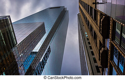 The Comcast Center, in downtown Philadelphia, Pennsylvania