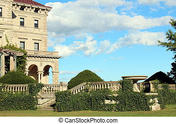 grounds at the breakers - beautiful landscape of the...