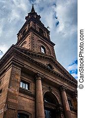 A church in Boston, Massachusetts.