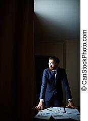 White collar worker - Portrait of elegant businessman in...