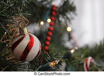 Candy Stripe Christmas Bauble - A candy cane stripe...