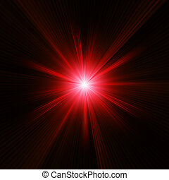 Red color design with a burst. EPS 10 vector file included