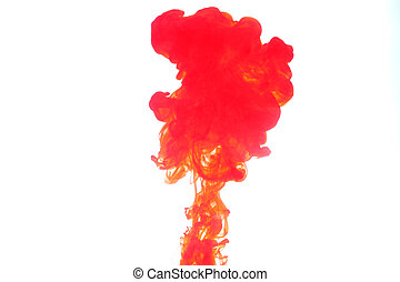 Red Smoke caused by water color.