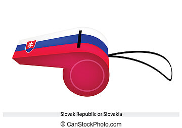 A Whistle of The Slovak Republic Flag - The Coat of Arms...