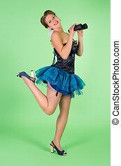 Leg up pinup sailor girl