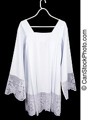 Surplice or chorrock - White lace surplice or chorrock as...