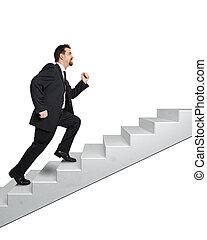 business man and stairs - An image of a handsome business...
