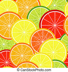 Seamless citrus  pattern