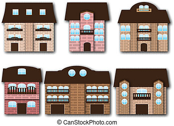 Cartoon buildings