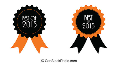 best of 2013 badge with ribbons