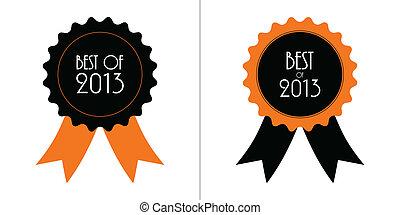 mieux, 2013, écusson, rubans