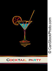 Cocktail party card design menu