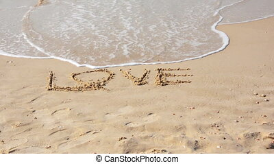 Wave washes the written word love