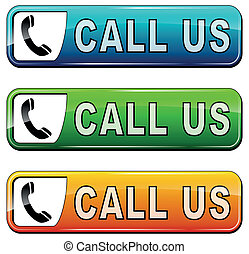"""call us"" buttons - vector illustration of ""call us"" buttons..."