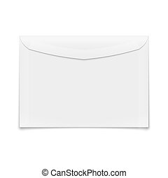 Blank envelope on white background - White blank envelope...