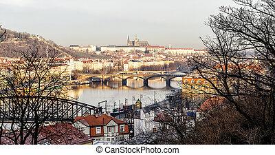 bridges on the Vltava