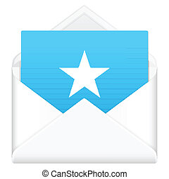 envelope with star symbol