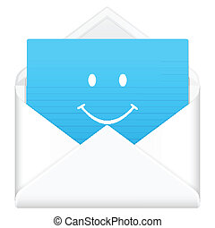 envelope with smile face symbol