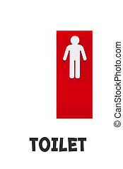 トイレ, 人,  -, 印