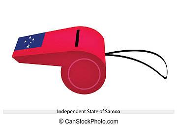 A Whistle of Independent State of Samoa - An Illustration of...
