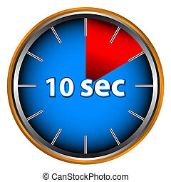 Ten seconds - Unique icon of hours with ten seconds