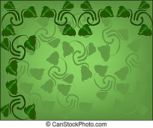 abstract background with sprigs of ivy