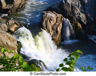 Waterfall - Side waterfall from the main Great Falls...