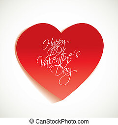 Happy Valentine's Day - Heart cut out of paper with the...