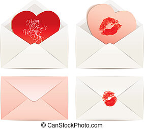 White envelope and Hearts