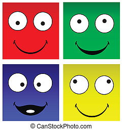 Funny square smilies